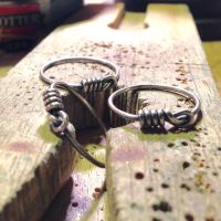 sterling silver knot rings by tinkerSue