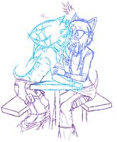 WIP Kiwi and Maylin by Dark-the-mysterious