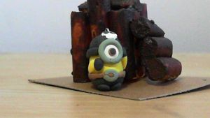 Pirate polymer clay minion doll! by kawaiicharms99