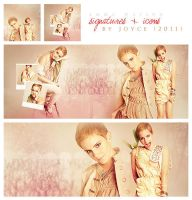 Emma Watson Signatures + Icons by memorabledesign
