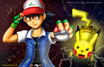 VS Ash and Pikachu by Cascadena
