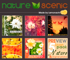 5 Nature Icons Pack by Lemonachi