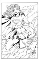 Supergirl 2 inks by madman1