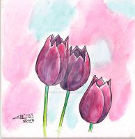 Tulipanes by ChemaIllustration