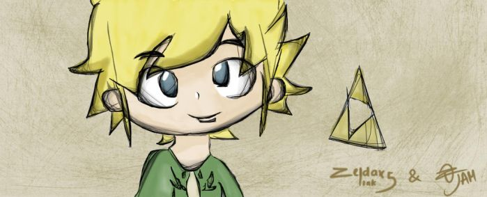 Link Wind Waker (ZXL5 and Me) by FernandoJAM