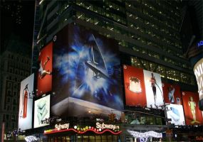 Star Trek Poster in Times Sq by tanman1