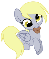 Derpy and her muffin by nirac