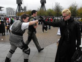 Wesker VS Chris by Jaks-Kingdom-Dwarf