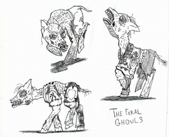 The Feral Ghouls of Fallout Equestria. by Krashface
