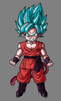 Kid Goku SSJ Blue Kaioken by hsvhrt