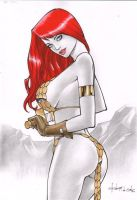 Red Sonja by Rubismar Da Costa by GordonWildhurst