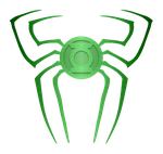 Spiderman Green Lantern Logo Metal test 1 by KalEl7