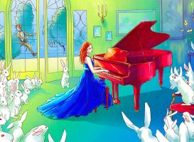 A song for white rabbits by Elruu