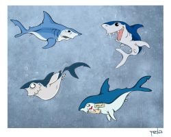 mako sharks by pzla