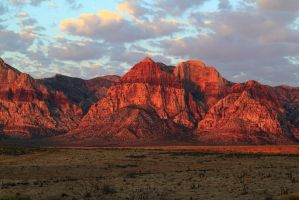 Stock Red Mountain at Dawn by Celem