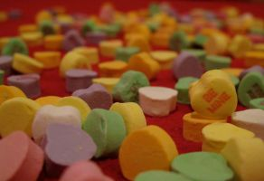 Scattered Hearts - Be Mine - Valentine's Day by boxcamera