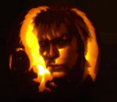 Pumpkin Carving 2011: Jareth the Goblin King by Aiyakiu