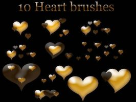 Hearts brushes by OMFGman