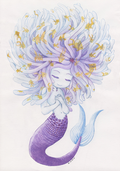 Sea Anemone Mermaid by Lozfoai
