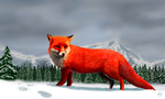 Red Fox by WeaponX-Art