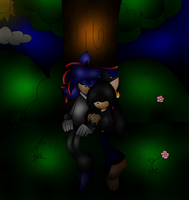 |:.~ Sleeping under teh tree ~.:/| by XRayHedgehogX