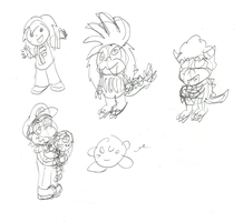 Some fan doodles by Quacksquared