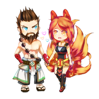 Ahri and Udyr Commission by minteaparty