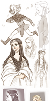 Elves sketches by onone-chan