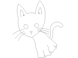Ghost Cat lineart by Harry-Potter-Addict