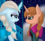 MLP Frozen/Anna and Elsa by LikeLike1