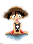 Child Luffy by DarkColorBlood