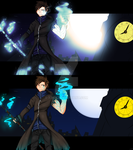 Gothic Mage Wallpaper Comparison by xpha