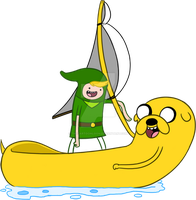 Adventure of Zelda Windwaker by TheCartoonLoon