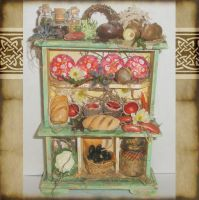 Fairy Mouse Dollhouse Cabinet by grimdeva