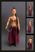 princess leia (slave outfit) custom doll by nightwing1975