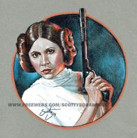 Star Wars - Princess Leia (2014) by scotty309