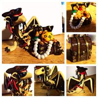Amazing Pirate Dice Dragon by LittleCLUUs
