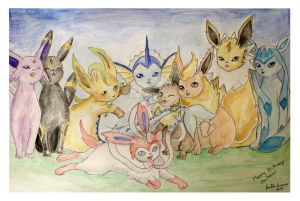 Pokemon Eeveelutions - Birthday Present