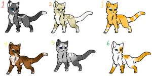 Cat Adoptables *OPEN* by NeonOwlz