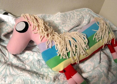 Lady Rainicorn Body Pillow by RealMunster
