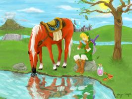 Legend of Zelda, Ocarina of time by Genjiuniverse