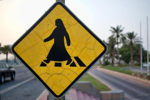 Cross Walk Sign - Middle Eastern Style by TomFawls