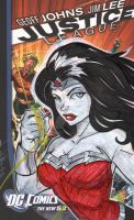 Wonder Woman on NEW 52 Backing Board by Hodges-Art