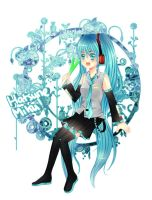 Happy Birthday Miku by ming-zi