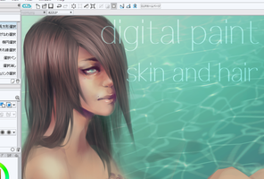 Skin and Realistic Hair Tutorial by twin-tail