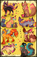 8 FREE creature adoptables CLOSED by Roxalew