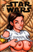 Naughty Padme bust sketch cover by gb2k