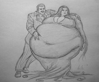 Commission: Mega-Sized Morticia Addams by Ray-Norr