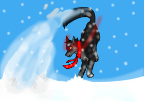 Playing in the snow by Ask-Dark-Toon-Link