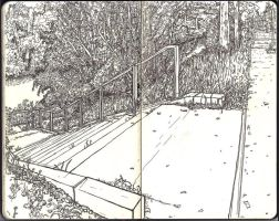 Sketchbook - Stairway to he... the canal by keiross